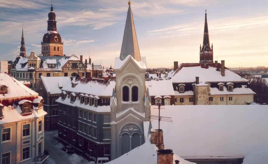 Riga Roof Tops in Winter