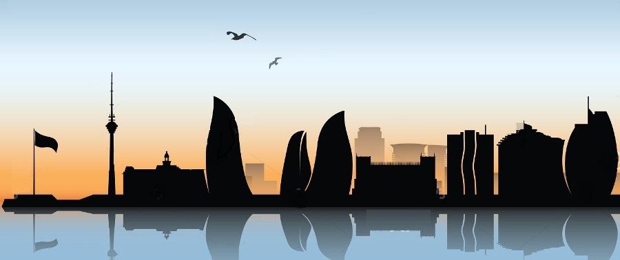 stock-vector-baku-skyline-vector-illustration-152802893
